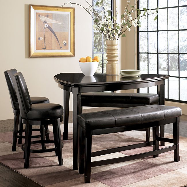Enjoyable Emory Counter Dinette With Benches And Chairs Creativecarmelina Interior Chair Design Creativecarmelinacom