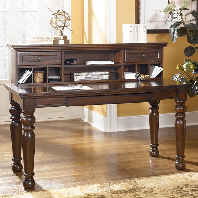 Porter Leg Desk With Low Hutch By Signature Design By Ashley