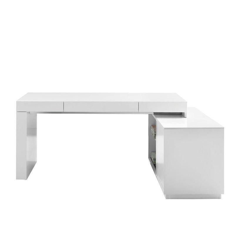 S005 Modern Office Desk White Gloss