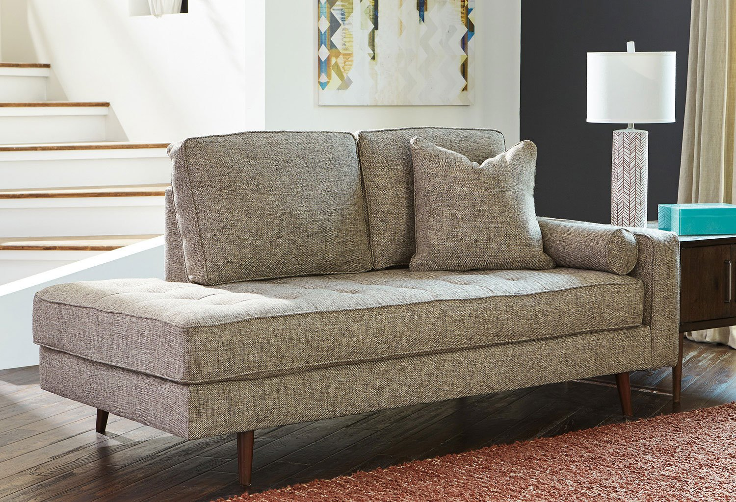 chento jute chaise - living room furniture