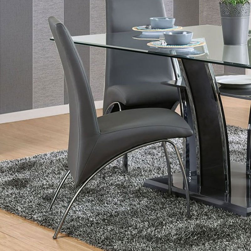 Svana Side Chair Gray Set Of 2 Dining Room And