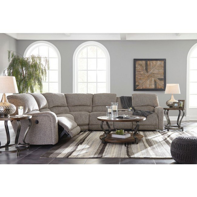 Pittsfield Fossil Power Reclining Modular Sectional Set