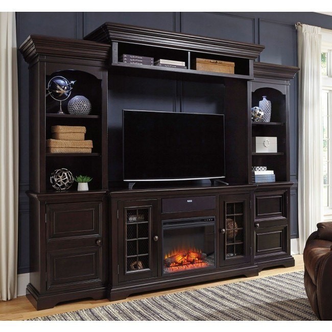 Willenburg Entertainment Wall w/ Fireplace and Audio Option