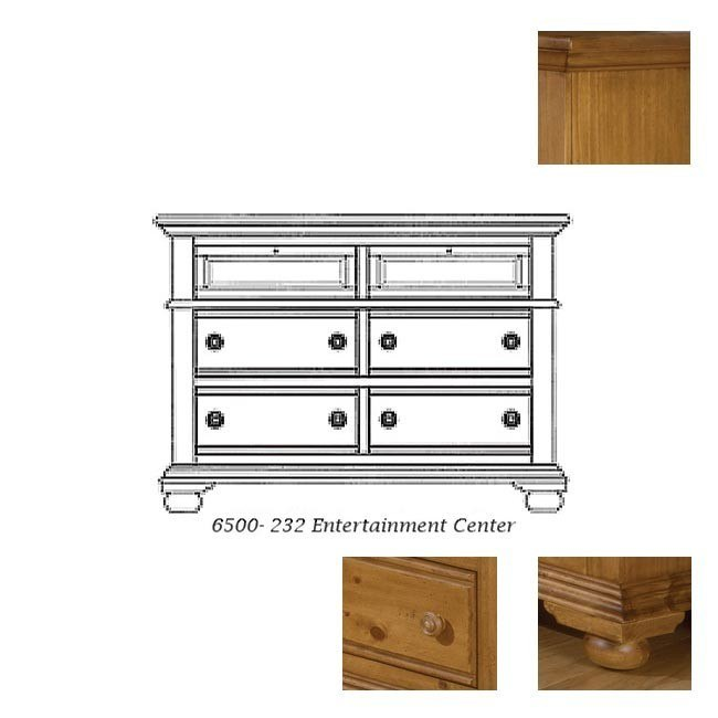 Cottage Traditions Entertainment Dresser (Sandstone)