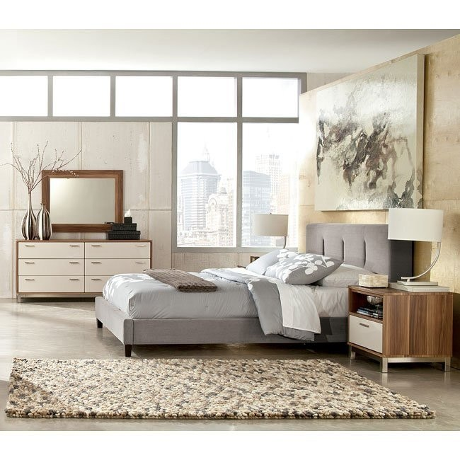Candiac Bedroom Set w/ Upholstered Bed