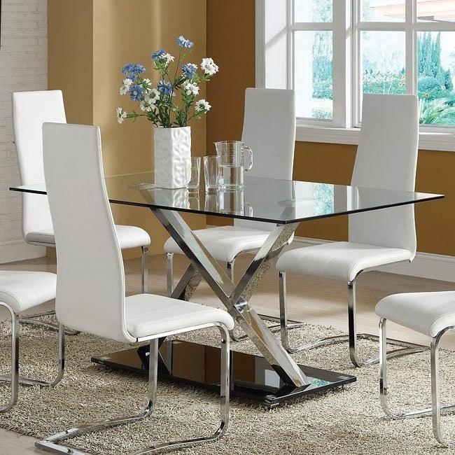 Modern Chrome Dining Table