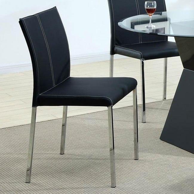 Modern Dining Chair (Black) (Set of 4)