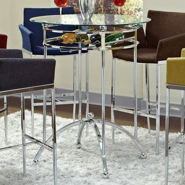 Modern Bar Table w/ Wine Rack