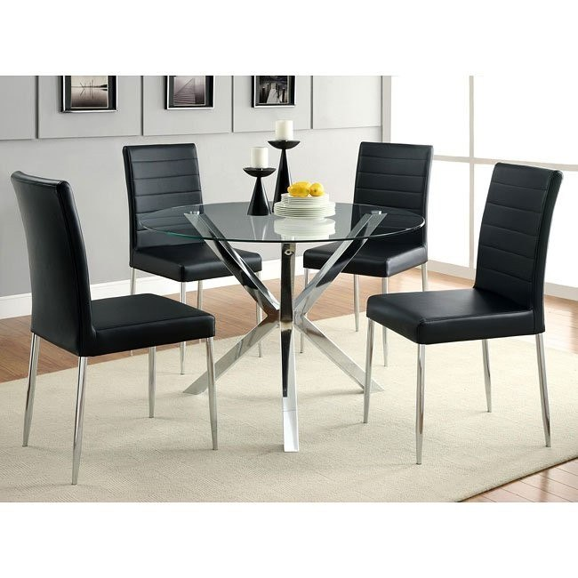 Vance Dinette w/ Black Chairs