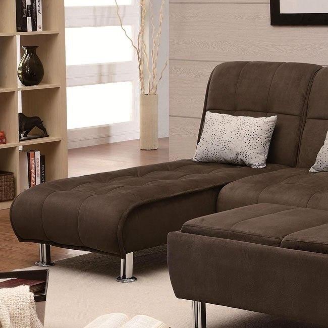 Brown Microfiber Chaise
