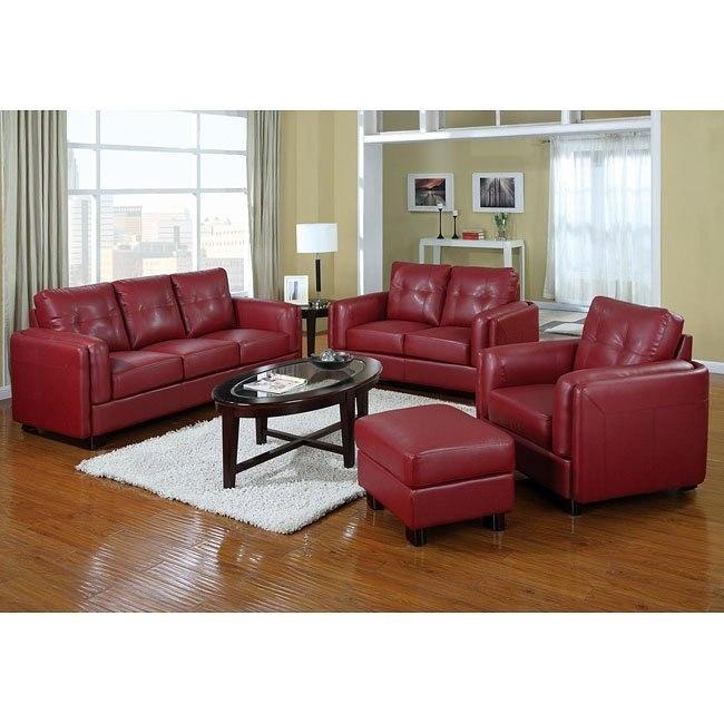 Sawyer Living Room Set (Red)