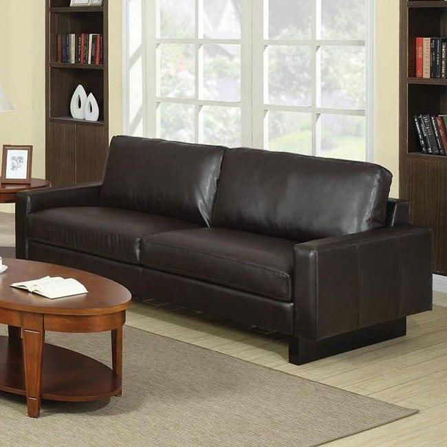 Ava Modern Sofa (Brown)