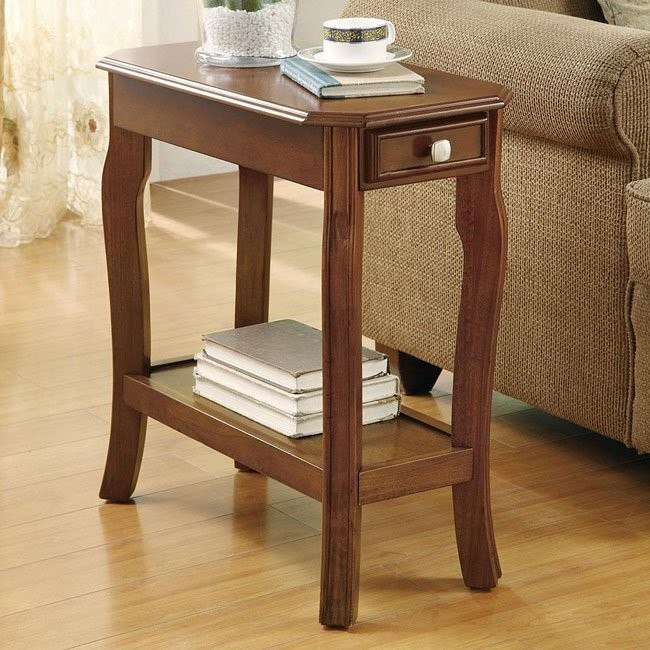 Warm Cherry Chairside Table