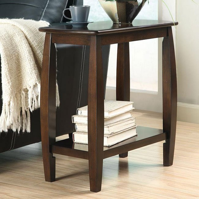 Walnut Chairside Table