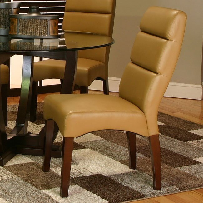 Adele Side Chair (Caramel) (Set of 2)