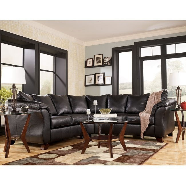 San Marco DuraBlend - Chocolate Sectional Living Room Set