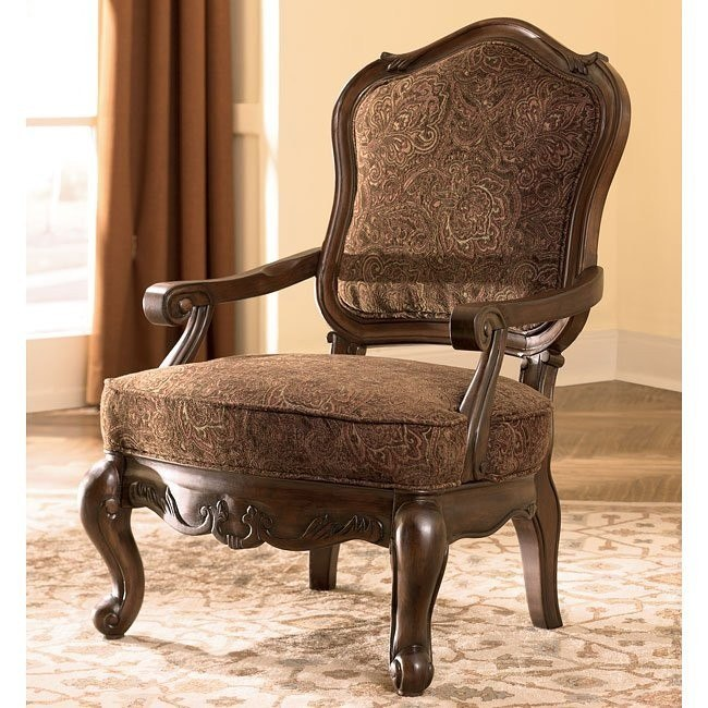 North Shore - Dark Brown Showood Accent Chair