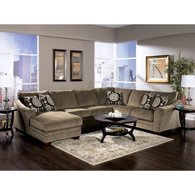 Cosmo - Marble Sectional Living Room Set
