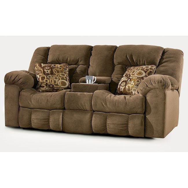 Macie - Brown Double Reclining Loveseat w/ Console