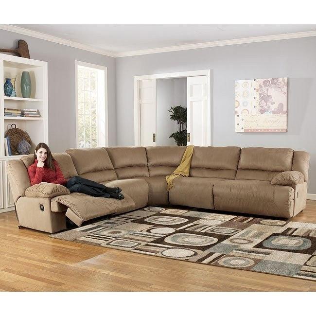 Hogan - Mocha Sectional Living Room Set