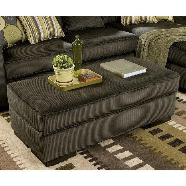 Freestyle - Pewter Accent Ottoman