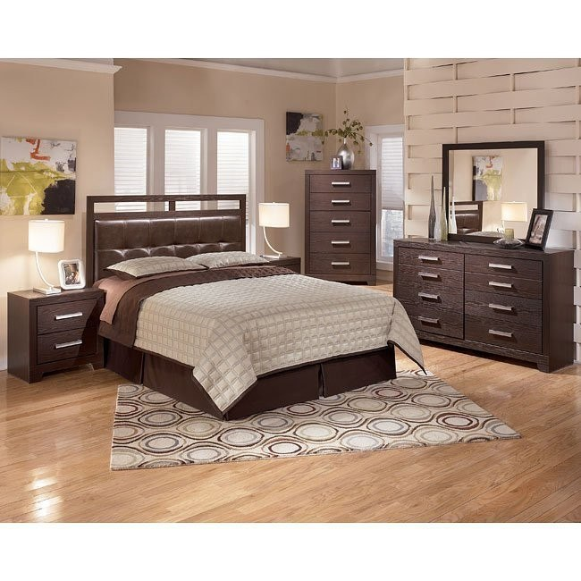 Aleydis Rail-Top Headboard Bedroom Set