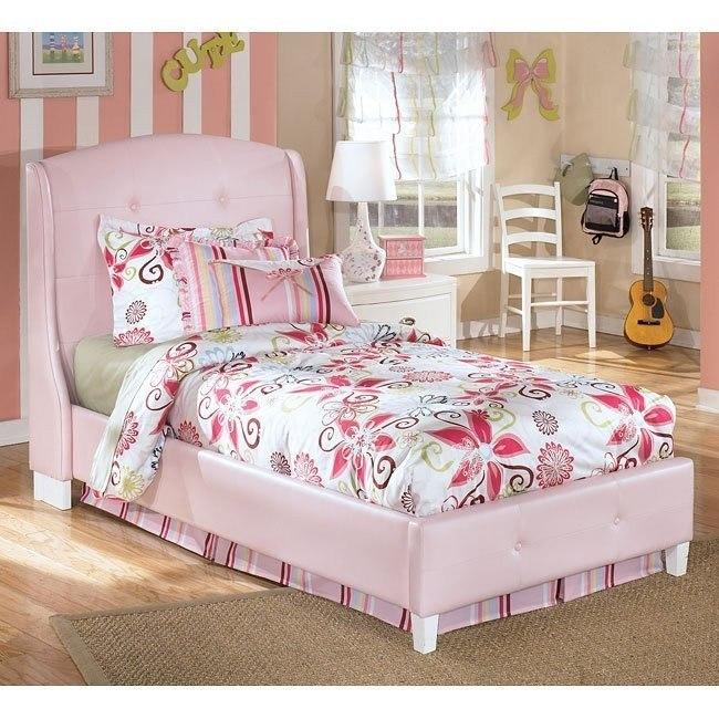 Alyn Pink Upholstered Bed