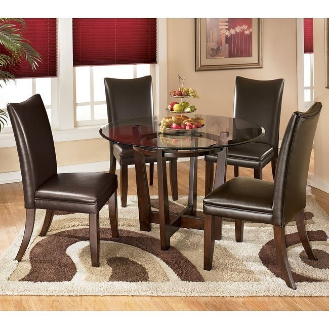 Charrell Round Dinette with Brown Chairs