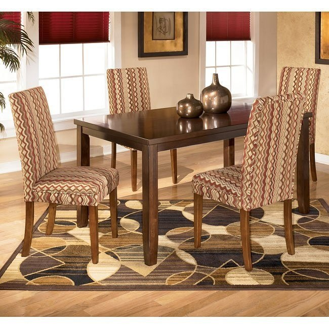 Charrell Rectangular Dining Room Set with Sangria Chairs