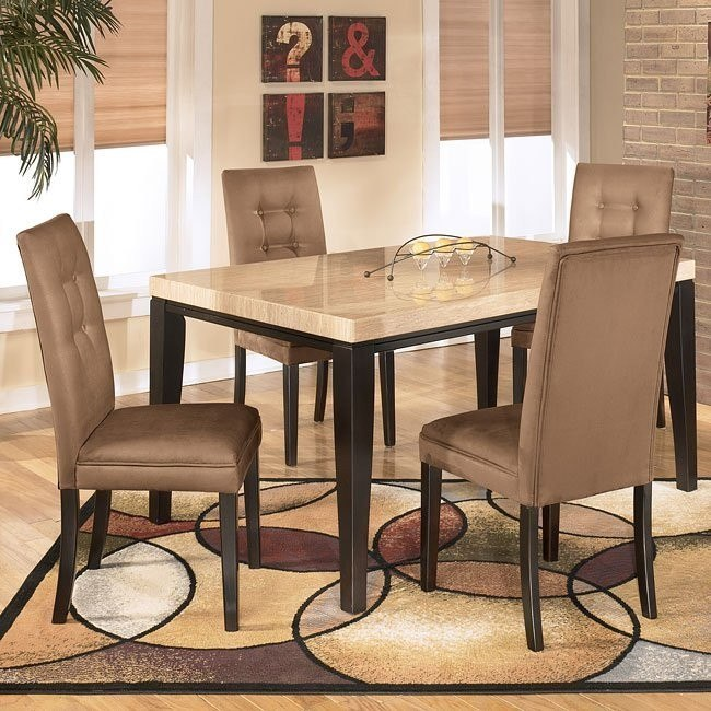 Naomi Dining Room Set with Mocha Chairs