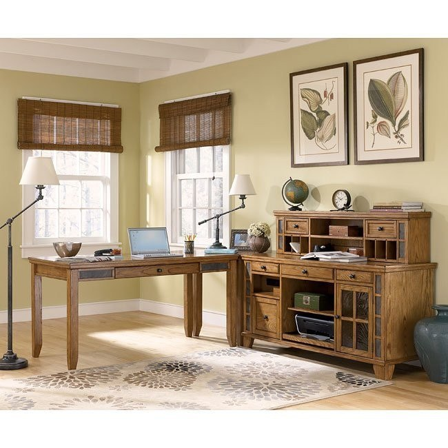 Kinley Home Office Set w/ Small Hutch Credenza