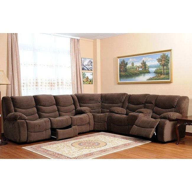 Corey Motion Sectional (Chocolate)