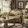 Vendome Loveseat (Gold Patina / Bone PU) by Acme Furniture
